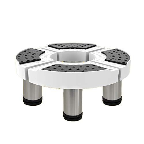 GAIXIA Round Gerätefuß Teleskopische Einstellung Waschmaschine Basishalterung, Handhabung Kleiner Anhänger Halterung Gerätebasis (größe : 23cm) -