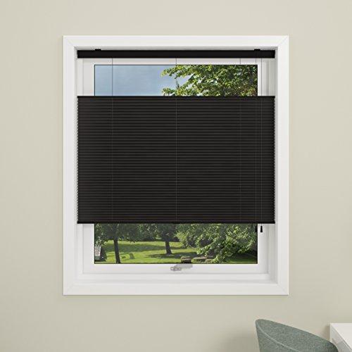 debel Touch Split Store plissé, Noir, 110 x 160 cm