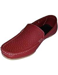 Fash Men's Red Leather Loafer