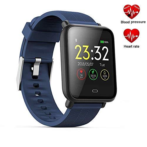 Mrsix Fitness Armband Tracker Activity, IP67 Wasserdicht Schrittzähler Uhr mit Pulsmesser Blutdruck Kalorienzähler Smart Watch für Kinder Damen Herren,1