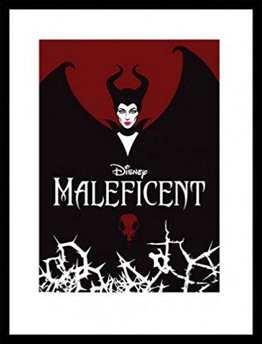 1art1 Maleficent Poster Kunstdruck und MDF-Rahmen Schwarz - Die Dunkle Fee, Flügel (80 x ()
