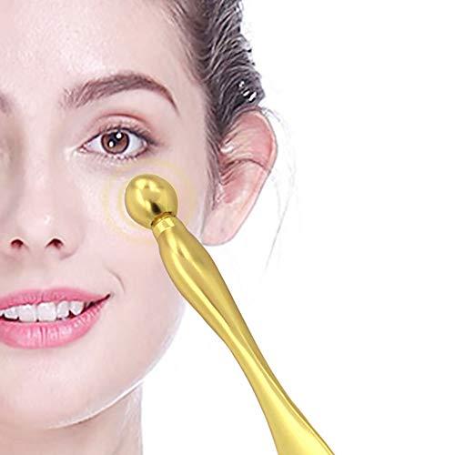 ZUEN Augenmassagestab, Augen-Gesichtsmassagestab Gesichtsstraffende Schönheitswerkzeuge Augenringe Augencreme Geteilter Kugel-Massagestab