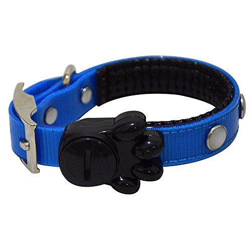 Alxcio Hund Hundehalsband LED Halsband Nacht Light mit Batterie Hunde Leuchthalsband Hunde-Halsband Sichtbar Haustierleine für Hunde und Halsband Katzen - Blau M