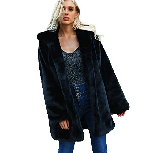 DEELIN Damen Kapuzen warme Faux Pelz Mantel Jacken Winter Parka Oberbekleidung
