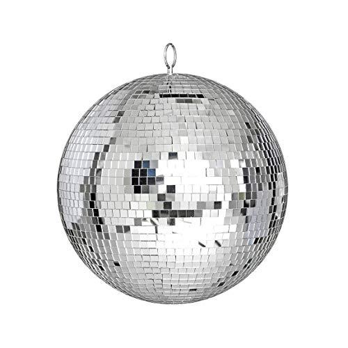 Große Spiegelglas-Discokugel DJ Dance Home Party Bands Club Bühnenbeleuchtung Langlebige Discokugel Light & (Farbe: silber) (Größe: 25cm)
