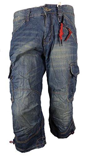 Timezone Herren Shorts Loose Miles Blau (Blue Tint Wash 3133)