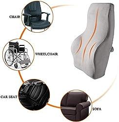 Housefar Rueckenkissen Memory Foam Orthopädisches,Lordosenstütze Auto für Bürostuhl, Korrektur der Haltung, Linderung von Rückenschmerzen