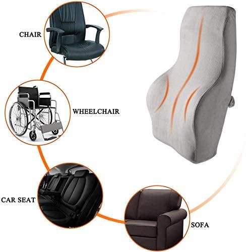 Rückenpolster Bürostuhl Ergonomisches Rücken-Kissen, Rückenkissen Orthopädisches Memory Foam Lordosenstütze fur Auto, Bürostuhl, Korrektur der Haltung, Linderung von Rückenschmerzen -