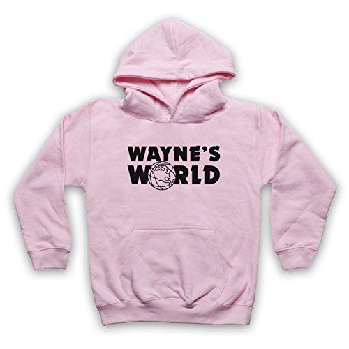 Inspiriert durch Wayne's World Logo Inoffiziell Kinder Kapuzensweater, Hellrosa, 12-13 Jahren