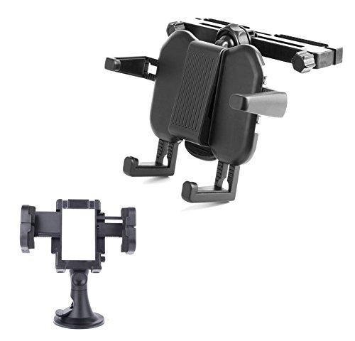 Auto-Halterung für Lenco MES-211/-217/-230 und DVP-740 X2 DVD-Player UND Smartphone-PKW-Haltevorrichtung (Portable Dvd-player White)