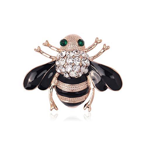 Lruibiao Biene Brosche Insekt Emaille Strass Bug Honig Pin, Exquisite Kleidung Kleid Schal Dekoration Mutter Geschenk Tier Mode Bouquet Abzeichen