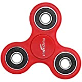 Original Fidget Spinner Toy With 4 Ceramic High Speed Bearings For Up To 3 Minute Spins Our EDC Hand Tri Spinner Relieves ADHD, Anxiety And Boredom For Kids And Adults By PurpleNut (Red)