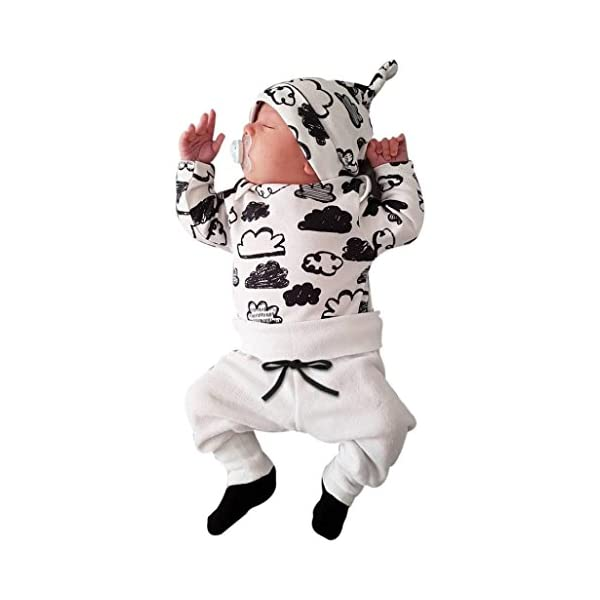 Baby Girl Boy Cloud Print T Shirt Tops+Pants Outfits,HOMEBABY Newborn Infant Unisex Clothes Set