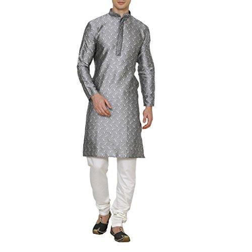 Royal Men's Jacaurd Embroidered Kurta Churidar -