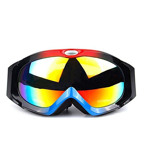 Fahrradbrille Klar Skibrille Sphärische Doppel Anti Fog Brille Anti Uv Skibrille Für Damen Und Herren Red Black Blue Damen Herren