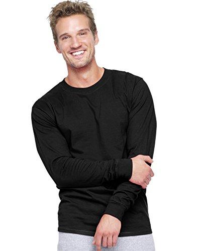 hanes-beefy-t-maglietta-a-maniche-lunghe-da-uomo-black-xxl