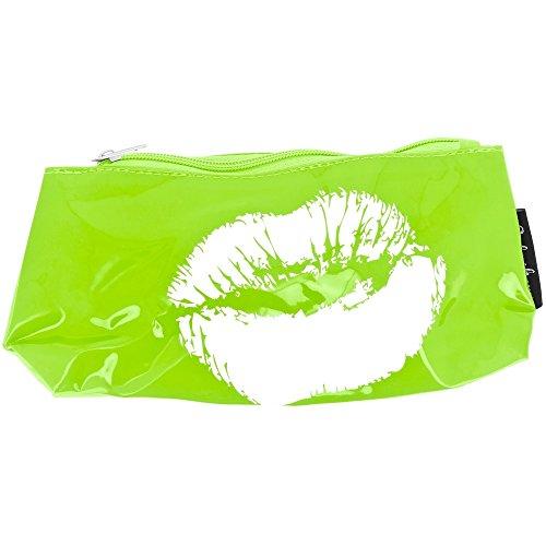 Promobo -Trousse De Toilette Beauté Imprimé Sexy Bouche Glamour Vert