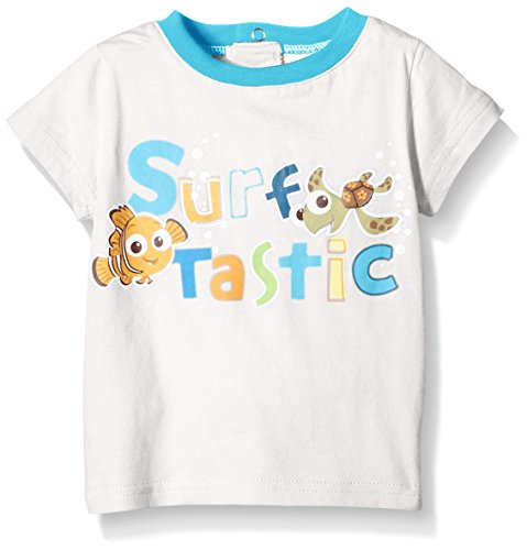 Disney Nemo-T-shirt Bimba 0-24, Blanco (Holiday Blue/Optic White), 24, mesi