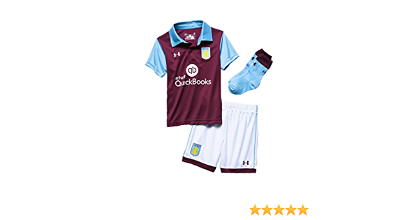 5 years Under Armour Aston Villa FC home claret blue white kids football minikit 2016-17