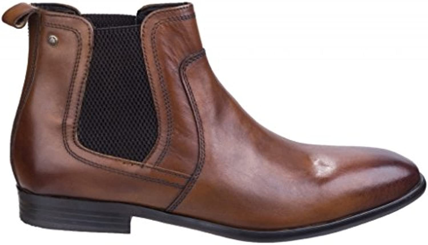 Base London Mens Floyd Washed Chelsea Pull On Leather Ankle Boots