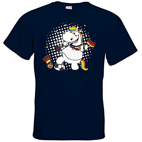 getshirts - Pummeleinhorn - T-Shirt - Fussball Pummel Navy