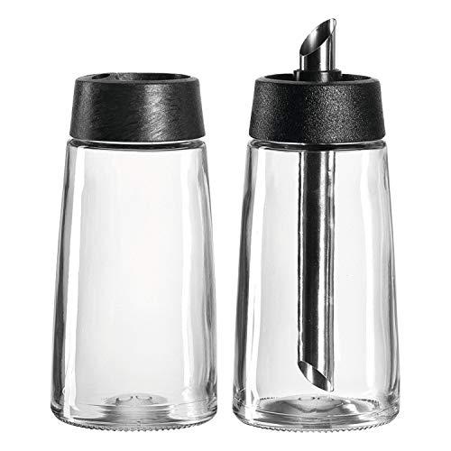 montana :enjoy Milchkännchen/Zuckerstreuer, 2-teiliges Set, 220ml, Klarglas, Kunststoff und Edelstahl, 057228