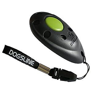DOGSLINE Profi Clicker Clickertraining für Hunde Katzen Pferde, schwarz, DL01P