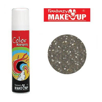 PARTY DISCOUNT Glitter-Haar-Spray, 75ml, Glitter-Silber (Glitter Spray Haar Silber)