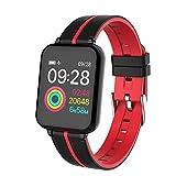 YZPZHSB Orologio Intelligente da Uomo IP67 Impermeabile smartwatch cardiofrequenzimetro Multiplo Modello Sportivo inseguitore di Fitness Donne dispositivi indossabili (Colore : B)