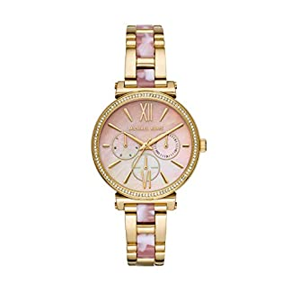 Michael-Kors-Damen-Analog-Quarz-Uhr-mit-Edelstahl-Armband-MK4344