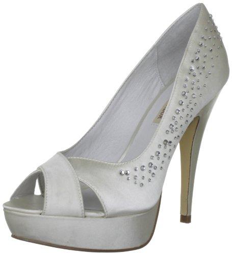 MENBUR Leila, Scarpe da sposa donna, color Bianco (Ivory), talla 39 (6 UK)