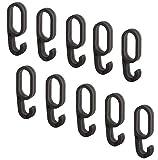 Gedotec Aufhänger für Kleider-Schrank Kleider-Haken für Kleidung Ordnungssystem zum Einhängen - H8509 | Kunststoff schwarz | für Schrankrohre OVA 30 x 15 mm | 10 Stück