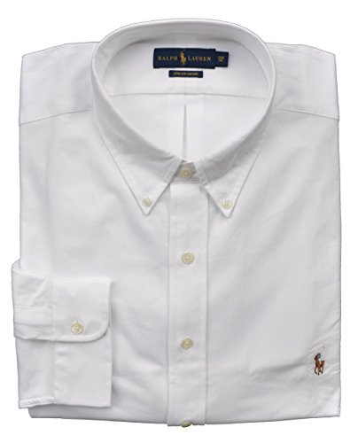 Ralph Lauren Big & Tall Hemd Button Down Oxford Stretch Weiß (5XB) (And Button-down-hemd Big Tall)