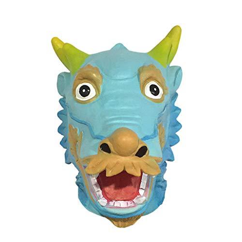 Maske Vintage Halloween Bar Latex Tierkopfbedeckung ()