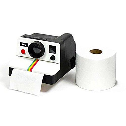 ducomi® Polaroll–Spender für Toilettenpapier-Stil Vintage-Form-Kamera Polaroid Jahre '80–Verleiht Ihrem Bad einen Look Retro (14x 17x 10cm) Polaroid-kamera-licht-gelb
