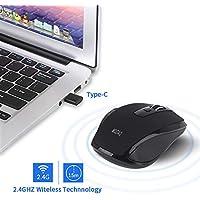 OHQ Ratones InaláMbricos USB C RatóN 2.4GHZ Tipo C RatóN USB C para Dispositivos Macbook