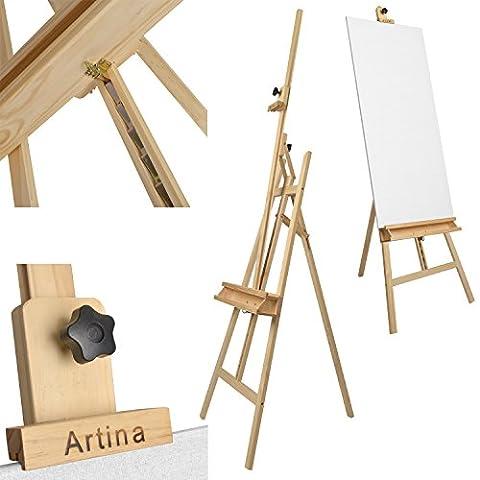 Artina Chevalet Académique Barcelona en bois de pin - Hauteur: 225cm - Stable Pliable Pratique - Pour novices &