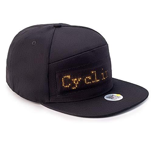 Leadleds LED Baseballkappe, Bluetooth LED Schild Hut Unisex DJ Light Up Rave Party Cap