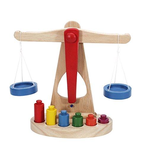 Hilai Equilibrio de Madera con 6 Pesos, Ideal para el Aprendizaje de los niños