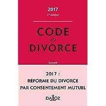 Code du divorce annoté 2017 - Nouveauté
