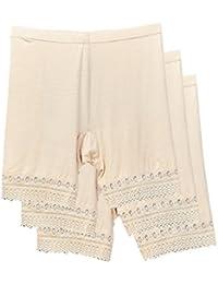 Zinmuwa Corta Las Mujeres En Ropa Interior Panty Stretch Leggings Cortas 3 Pack
