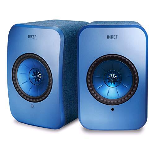 KEF LSX Wireless Musiksystem mit Airplay 2 und Bluetooth Blau