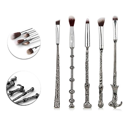 Fun Daisy Home Series 5 Stücke Make-Up Nachahmung Spiel Zauberstab Make-Up Pinsel Kosmetik Pinsel Kit (Silber Zauberstab)