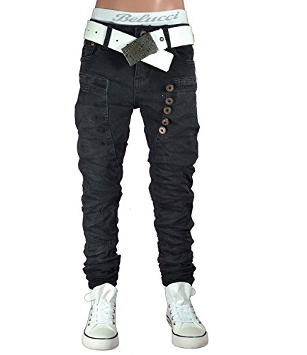 ST-012 SQUARED & CUBED Jeans Hose Junge Kinder schwarz 104-158 (14 (ca.152-158), schwarz)