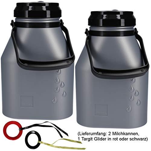 Milchkanne 2X 2Liter auslaufsicher, 3-teilig