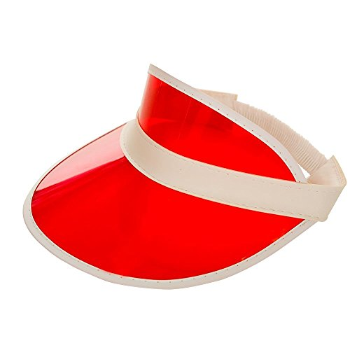 Adults Unisex Red Pub Poker Golf Visor Hat Fancy Dress Accessory