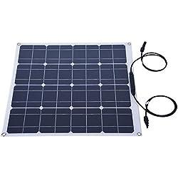 Zerone 50W Panel de energía Solar Kit fotovoltaico 12 V Módulo de policristalina Eco-Worthy batería de Carga para Yacht RV Coche Barco offgrid