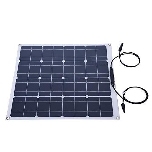 Zerone 50 W tragbares Flexibles Solar-Panel, Ultraleicht, multifunktionales Solarpanel für Wohnmobil, Boot, Kabine, Zelt, Auto, LKW, Anhänger oder andere unregelmäßige Oberflächen -
