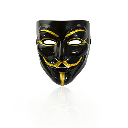 detta Maske 6 Stück Guy Fawkes Anonymous Karneval Fasching Occupy Party Theater ()