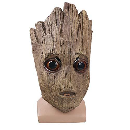 Guardians of The Galaxy 2 Maske, Grootmaske, Cosplay Maske - Perfekt für Karneval und Halloween - Kostüm für Erwachsene - Latex, Unisex,Groot-55cm~63cm